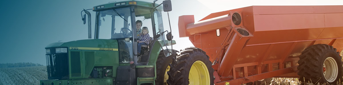 tractor with kids