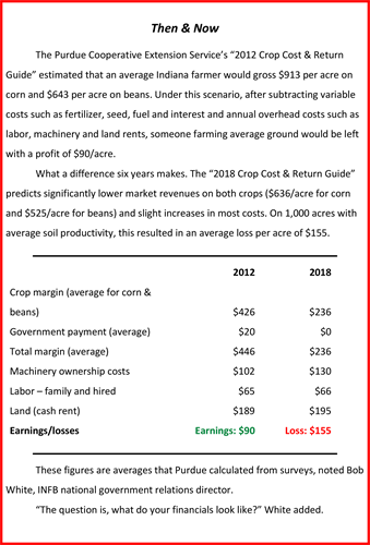 Crop Cost and Return Guide 2012 to 2018 Comparison_Purdue Cooperative Extension Service_2