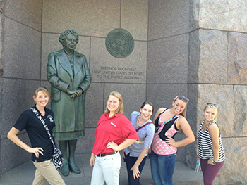 CollegiateFB_TravelandProfOpps_LockUpTrip_Eleanor Roosevelt Monument